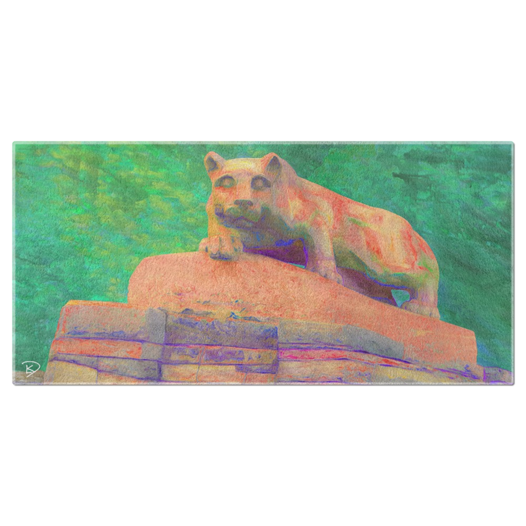Nittany Lion Statue Beach Towel