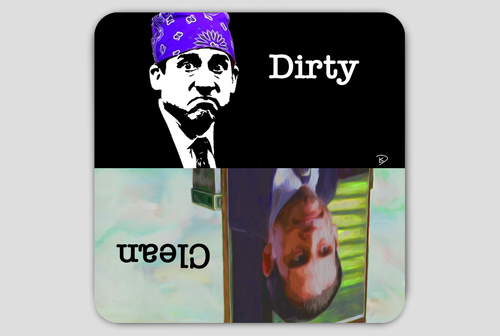 Michael Scott Clean Dirty Dishwasher Magnet