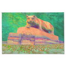 Load image into Gallery viewer, Nittany Lion Statue Roots Canvas Penn State Decor