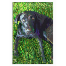Load image into Gallery viewer, Black Lab Dog Canvas Print