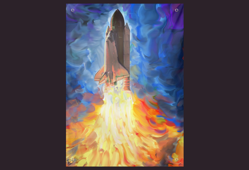 Space Shuttle Tapestry Psychedelic Tapestry