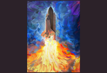 Load image into Gallery viewer, Space Shuttle Tapestry Psychedelic Tapestry