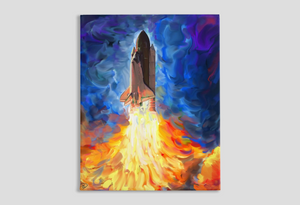 Space Shuttle Canvas Print