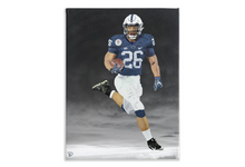 Load image into Gallery viewer, Saquon Barkley Canvas Print Penn State Decor