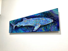 Load image into Gallery viewer, Whale Shark Aluminum Print Shark Decor
