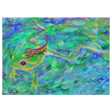 Load image into Gallery viewer, Frog Psychedelic Tapestry Frog Gifts