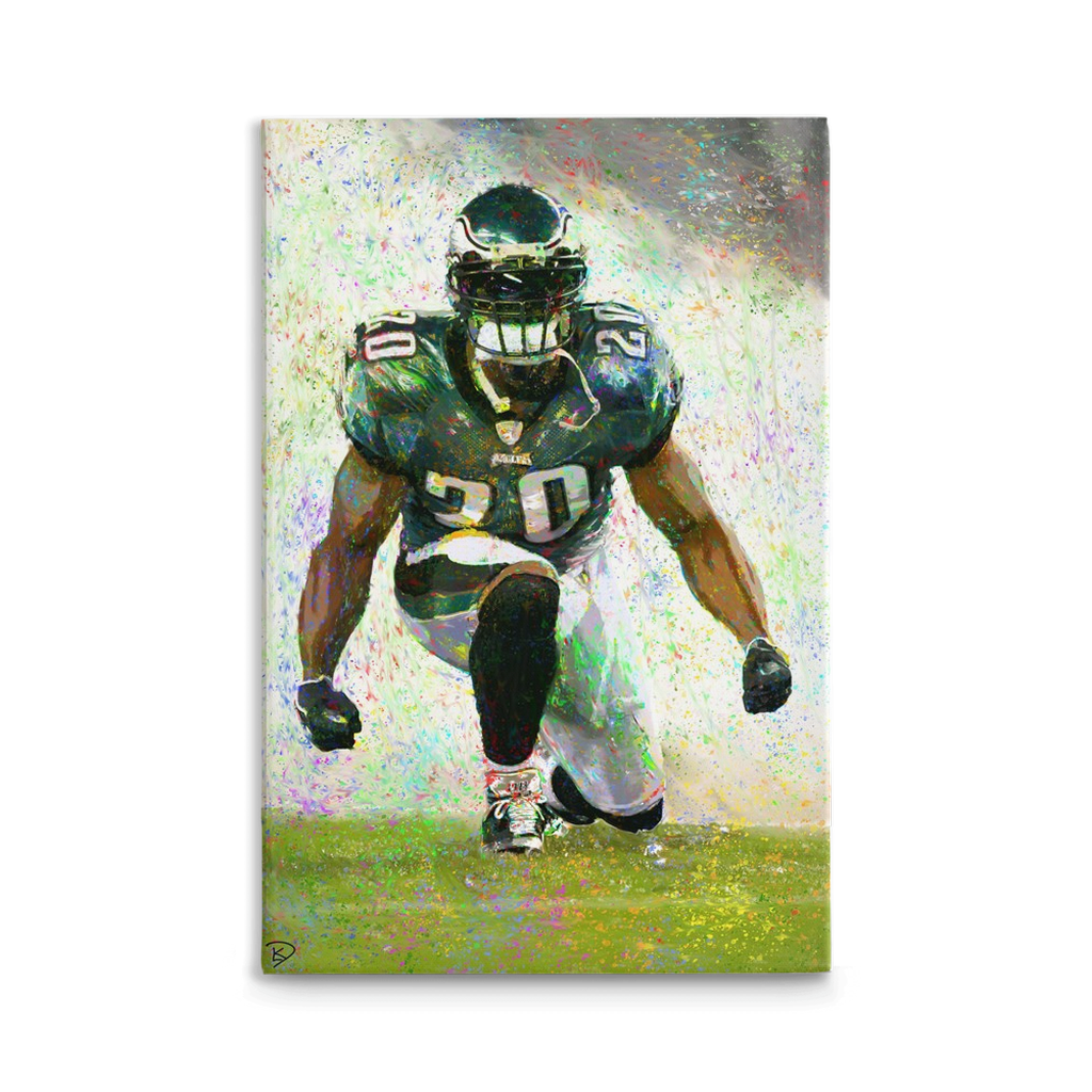 Brian Dawkins Canvas Print Man Cave Decor