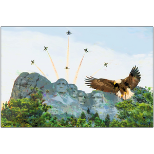 Mount Rushmore Aluminum Print Blue Angels Wall Art