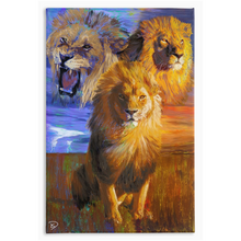 "Load image into Gallery viewer, Lion Canvas Print ""Spiritual War"""