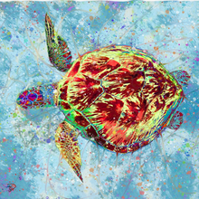 Load image into Gallery viewer, Sea Turtle Shower Curtain