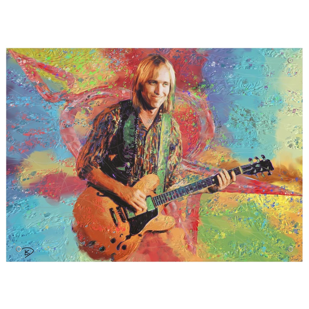 Tom Petty Tapestry Psychedelic Tapestry