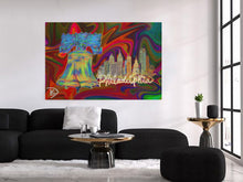 Load image into Gallery viewer, Philadelphia Wall Art Painting Liberty Bell Wall Decor Print