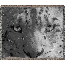 Load image into Gallery viewer, Snow Leopard Woven Blanket