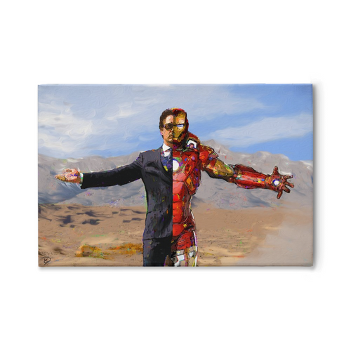Iron Man Canvas Print Iron Man Art Tony Stark Art