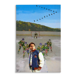Mighty Ducks Canvas Print Man Cave Art