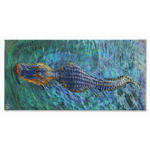 Crocodile Canvas Print Crocodile Wall Art