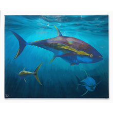 Load image into Gallery viewer, Yellowfin Tuna Canvas Print