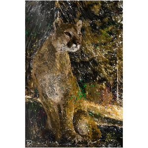 Mountain Lion Aluminum Print