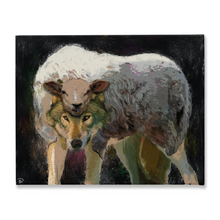Load image into Gallery viewer, Wolf Sheeps Clothing Canvas Print Wolf Wall Art