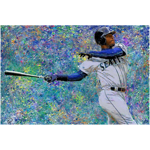 Ken Griffey Jr Poster Man Cave Decor