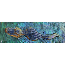 Load image into Gallery viewer, Crocodile Aluminum Print Crocodile Wall Art