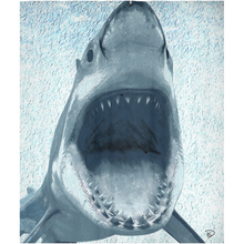 Load image into Gallery viewer, Great White Shark Shower Curtain