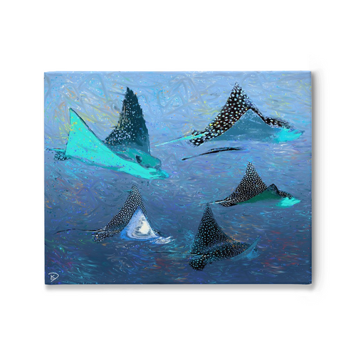 Stingray Canvas Print Beach House Art