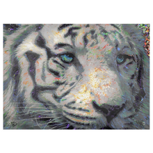 Load image into Gallery viewer, White Tiger Tapestry Tiger Wall Art Psychedelic Tapestry