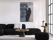 "Load image into Gallery viewer, Johnny Cash Canvas Print ""Folsom"""