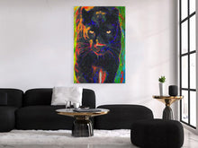 Load image into Gallery viewer, Black Panther Canvas Print