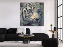 Load image into Gallery viewer, White Tiger Wall Art Tiger Canvas Print