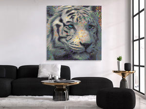 White Tiger Wall Art Tiger Canvas Print