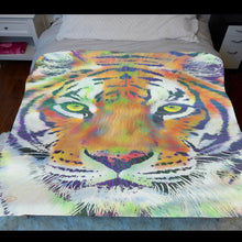 Load image into Gallery viewer, Colorful Tiger Sherpa Blanket Tiger Decor