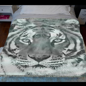 Tiger Woven Blanket
