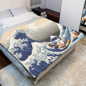 Great Wave Rum Ham Sherpa Blanket Always Sunny Fleece Sherpa