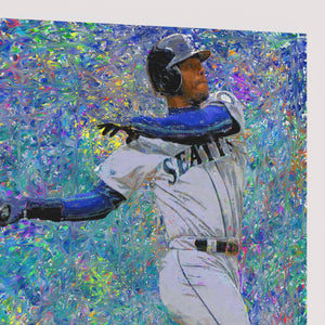Ken Griffey Jr Canvas Print Man Cave Decor