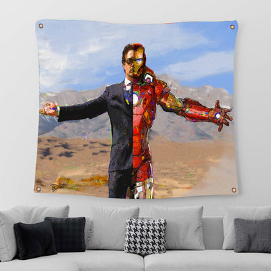 Iron Man Tapestry Iron Man Art Tony Stark Art