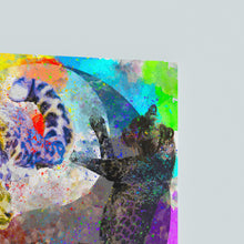 "Load image into Gallery viewer, Leopard Yin Yang Canvas Print ""Balance"""