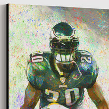 Load image into Gallery viewer, Brian Dawkins Canvas Print Man Cave Decor