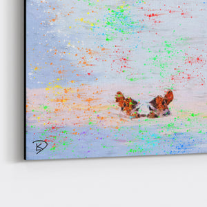 "Hippo Canvas Print ""Creation"""