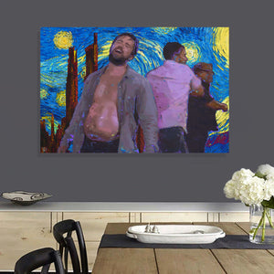 Fat Mac Starry Night Canvas Print