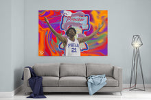 Load image into Gallery viewer, Joel Embiid Canvas Sixers Wall Art Painting Process Man Cave Art