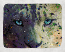 Load image into Gallery viewer, Snow Leopard Fleece Sherpa Blanket