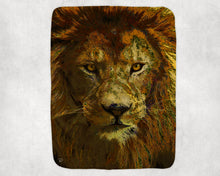Load image into Gallery viewer, Lion Throw Blanket Safari Animal Blanket