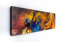 Load image into Gallery viewer, Drogon Game Of Thrones Wall Art Game Of Thrones Canvas Game Of Thrones Poster Panoramic Canvas