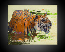 Load image into Gallery viewer, Tiger Canvas Print Tiger Cub