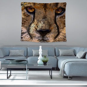 Cheetah Wall Art Psychedelic Tapestry