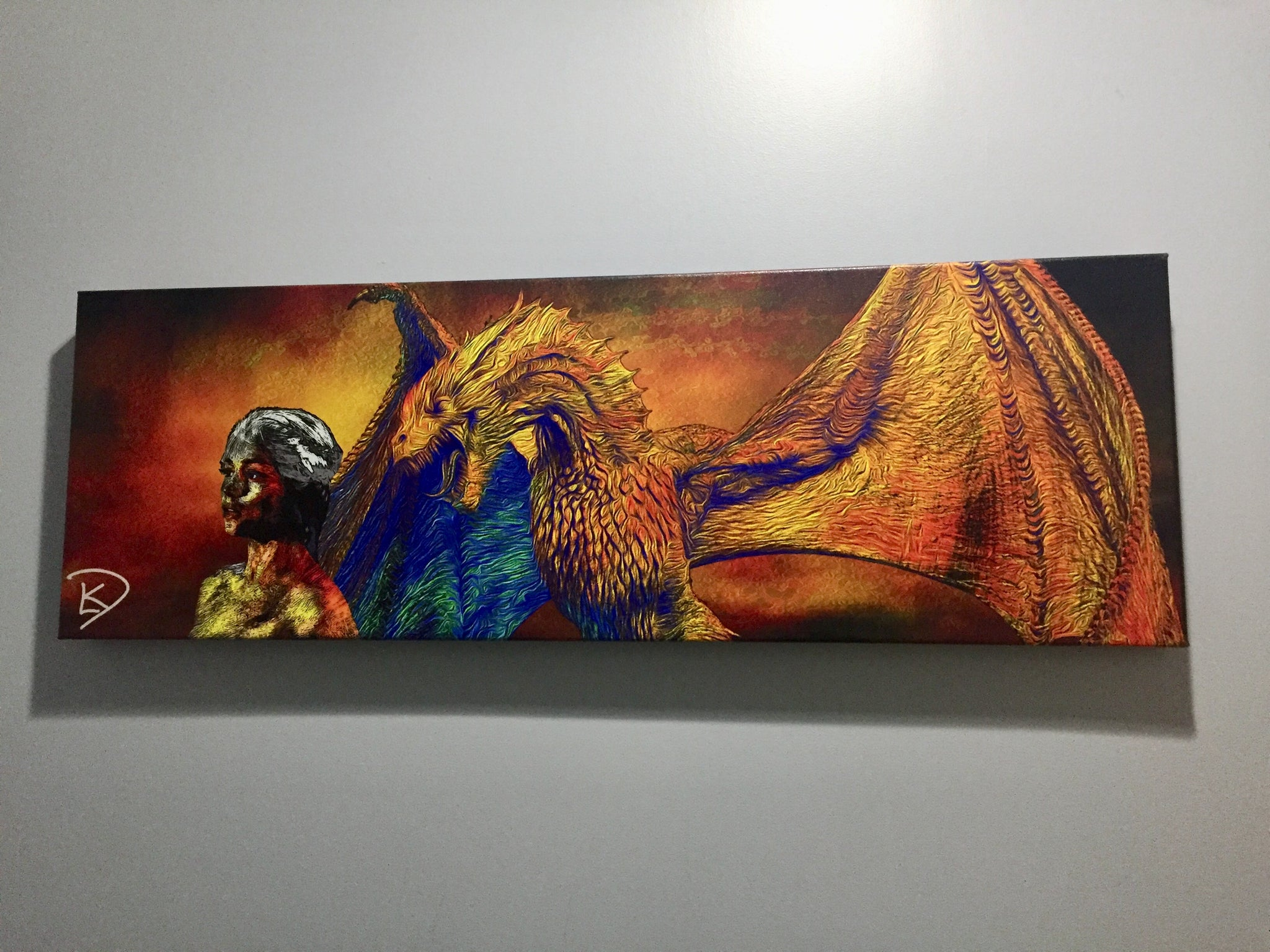 Drogon Game Of Thrones Wall Art Game Of Thrones Canvas Game