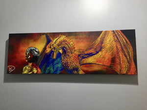Drogon Game Of Thrones Wall Art Game Of Thrones Canvas Game Of Thrones Poster Panoramic Canvas