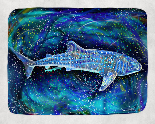 Whale Shark Blanket Shark Art Fleece Sherpa Blankets